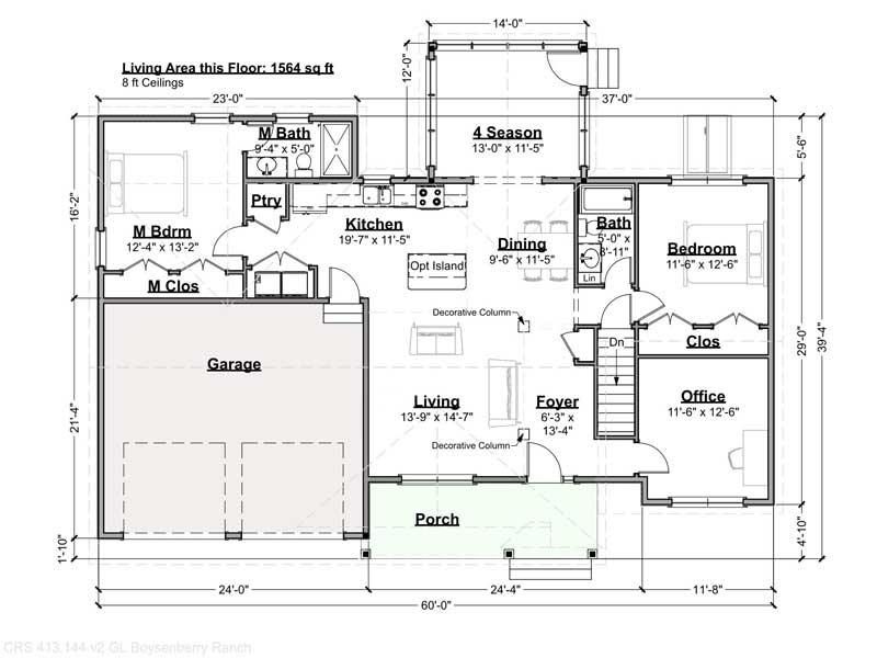 Boysenberry Ranch Floor Plan